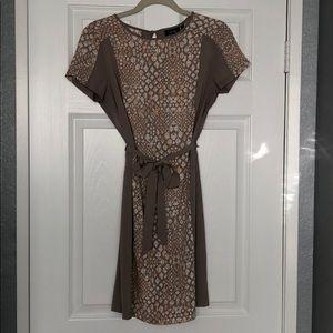 Women's Tan Snakeskin Dress